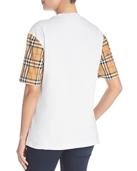 Burberry - Serra Check-Sleeve Tee
