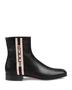 Gucci - Men's Stripe Logo Chelsea Boots