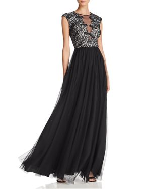 LACE-BODICE GOWN