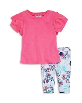 Splendid - Girls' Ruffled Tee & Floral Leggings Set - Baby