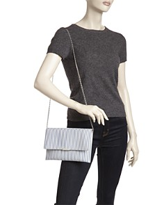 Loeffler Randall - Striped Leather Convertible Envelope Clutch - 100% Exclusive