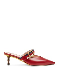 Gucci - Women's Leather Mules