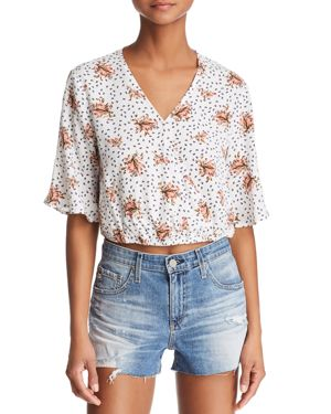 SAGE THE LABEL Sage The Label Place In Sun Floral Blouse in Off White