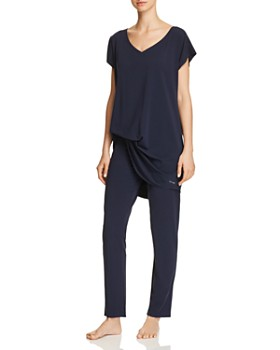 Calvin Klein - CK Black Structure Cotton Sleepshirt & Sleep Pants