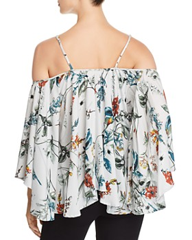 Elan - Cold-Shoulder Flutter Top