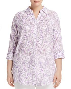 Foxcroft Plus - Faith Floral-Print Tunic Top