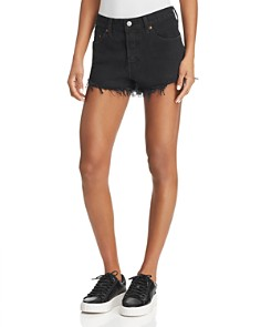Levi's - 501 Frayed Denim Shorts in Vintage Vinyl