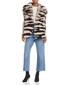 IRO.JEANS - Zarl Zebra-Print Shearling Vest