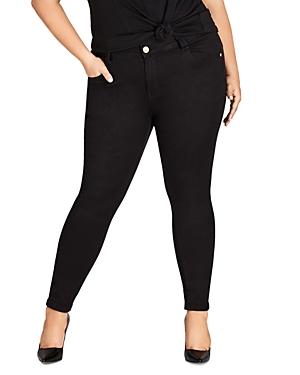 City Chic Plus Asha Skinny Jeans in Black