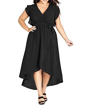 City Chic Plus Faux-Wrap Dress