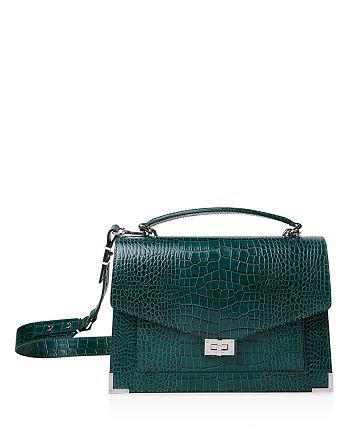 37f159823b The Kooples Emily Croc-Embossed Leather Maxi Crossbody | Bloomingdale's