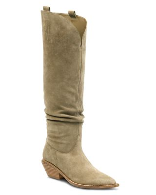 Tyra Suede Western Pointed Toe Boots