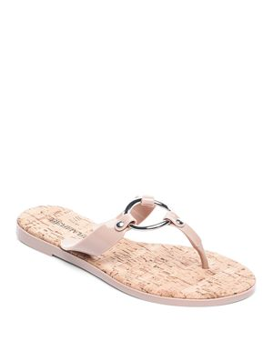 WOMEN'S JELLY RING THONG SANDALS