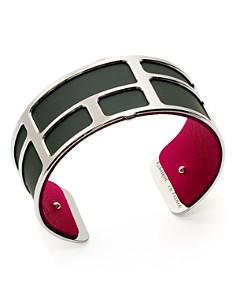 Les Georgettes - Labyrinthe Reversible Medium Two-Tone Open Cuff Bracelet