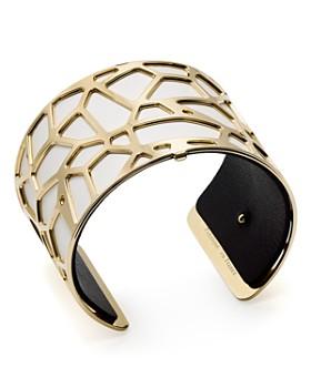 Les Georgettes - Giraffe Reversible Wide Two-Tone Open Cuff Bracelet