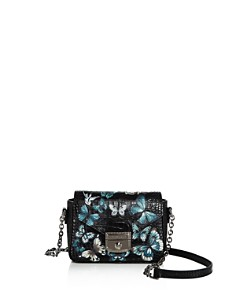 Longchamp - Le Pliage Small Croc-Embossed Leather Papillon Crossbody