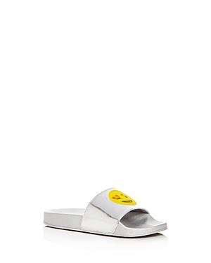 Steve Madden Girls' Emoji Pool Slide Sandals, Little Kid, Big Kid - 100% Exclusive