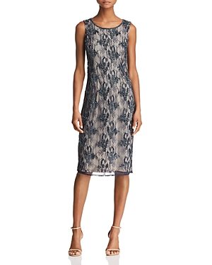 Adrianna Papell Beaded Lace Dress