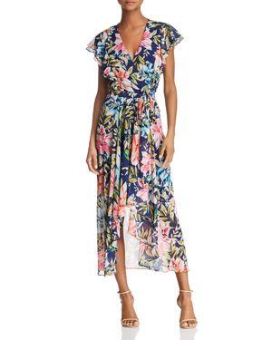 Eliza J Floral Faux-Wrap Dress 2994442