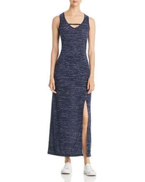 MARC NEW YORK PERFORMANCE SPACE-DYED MAXI DRESS