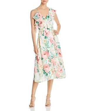 Yumi Kim Chantelle Floral-Print Asymmetric Midi Wrap Dress