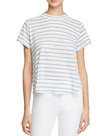 35b36bb7a6 LNA Karmen Cutout Striped Tee | Bloomingdale's