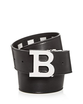 Bally - Men's Check & Leather Reversible Belt