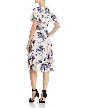 Olivaceous - Ruffled Floral Print Wrap Dress - 100% Exclusive