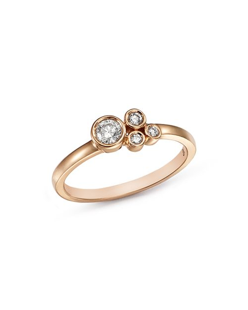 Bloomingdale's - Diamond Bezel Cluster Ring in 14K Rose Gold, 0.25 ct. t.w. - 100% Exclusive