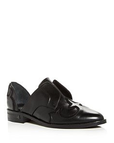 Freda Salvador - Women's Western Leather d'Orsay Loafers