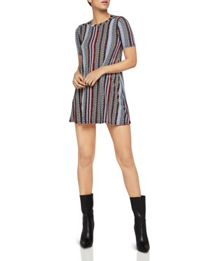 BCBGENERATION STRIPED A-LINE SWING DRESS