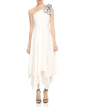 Halston Heritage One-Shoulder Ruffled Strap Dress 3002823