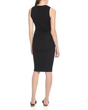 HALSTON HERITAGE - Ruched Sheath Dress