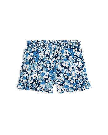 db9c1b9ba0 Ralph Lauren Girls' Ruffled Floral-Print Shorts - Little Kid ...