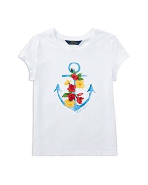 Polo Ralph Lauren Girls Anchor Graphic Tee  Big Kid