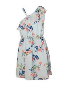 BCBGirls - Girls' Ruffled Asymmetrical Floral Dress - Big Kid