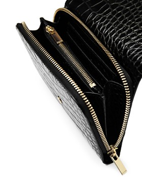 The Kooples - Croc-Embossed Leather Wallet