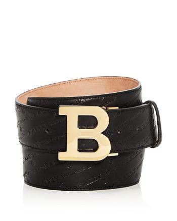 Bally - B Buckle Logo-Embossed Leather Belt
