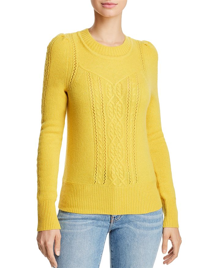 AQUA - Mixed Knit Cashmere Sweater - 100% Exclusive