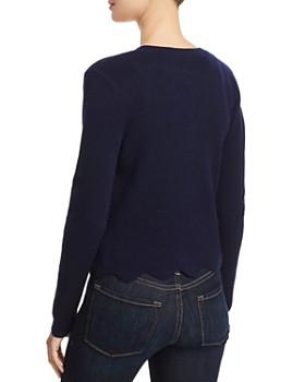 AQUA - Scalloped Cashmere Cardigan - 100% Exclusive