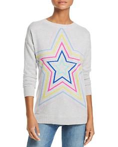 AQUA - Multi Star Crewneck Cashmere Sweater - 100% Exclusive
