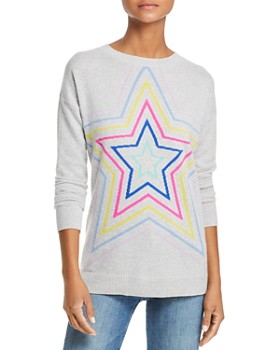 AQUA - Multi Star Crewneck Cashmere Sweater - 100% Exclusive