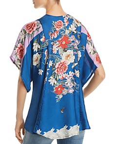 Johnny Was - Samira Floral-Print Silk Top