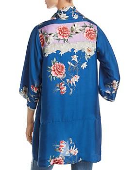 Johnny Was - Samira Floral-Print Silk Tie-Front Kimono
