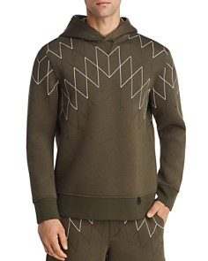 BLACKBARRETT by Neil Barrett - Football Net Hooded Sweatshirt