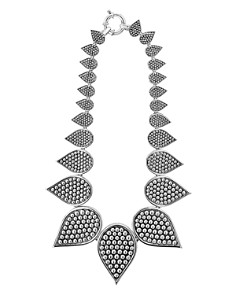 LAGOS - Sterling Silver Bold Caviar Graduated Teardrop Collar Necklace, 18""