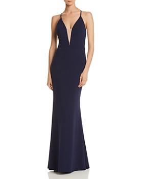 AQUA - Scuba Crepe Mermaid Gown - 100% Exclusive