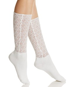 Natori Open-Knit Crew Socks - Bloomingdale's_0