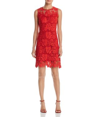 T TAHARI JOLIE SLEEVELESS LACE DRESS
