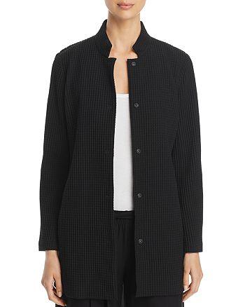 Eileen Fisher - Stand Collar Textured Jacket